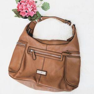Etienne Aigner tan leather shoulder bag